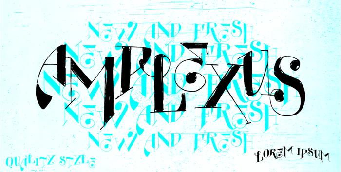 Vtks Amplexus Font poster