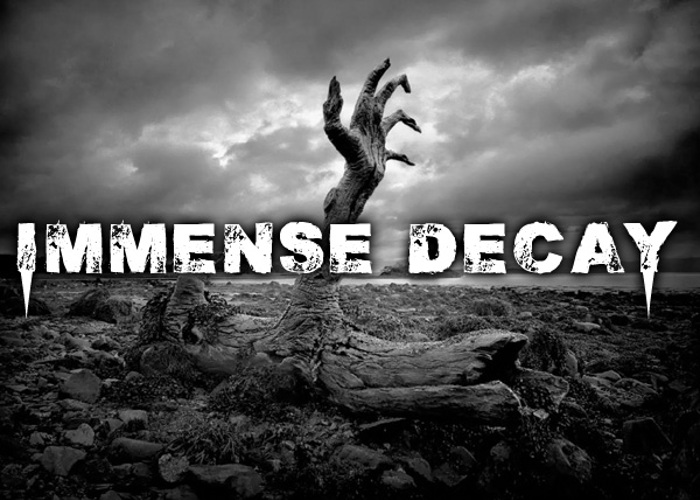 Immense decaY Font poster