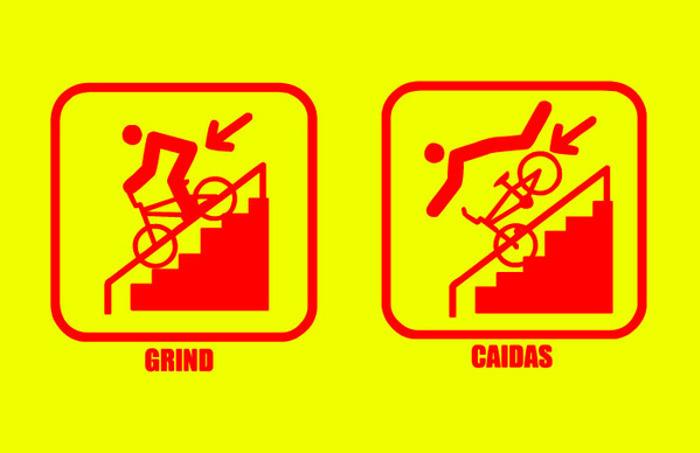 ICONO BMX Font poster