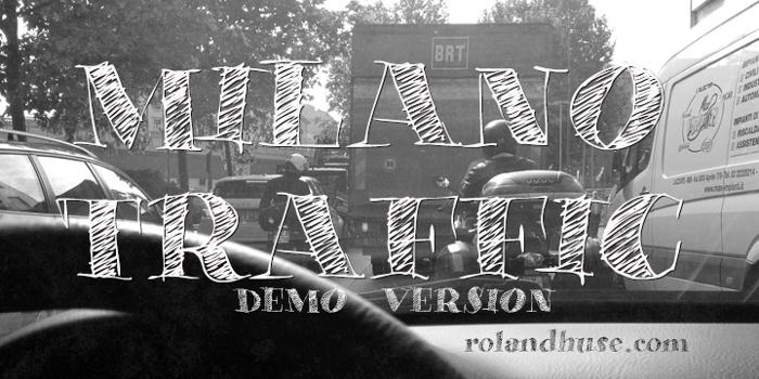 Milano Traffic Demo Font poster