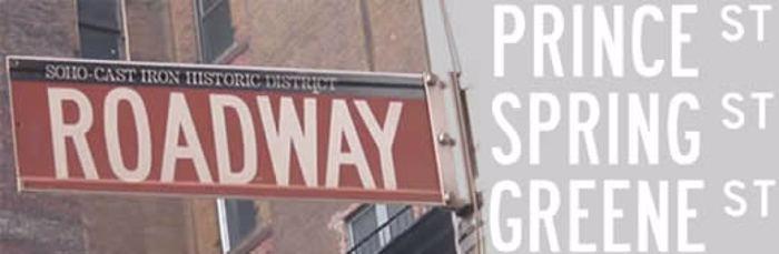 Roadway Font poster
