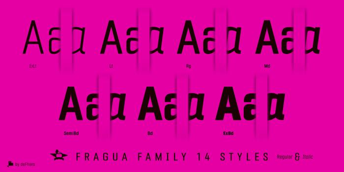 Fragua Font poster