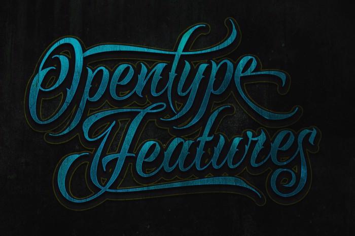 Raven Script Font poster