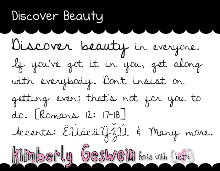 Discover Beauty Font
