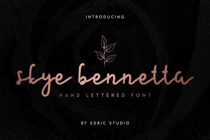 Skye Bennetta Font poster