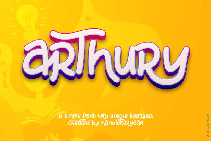 Arthury Font poster