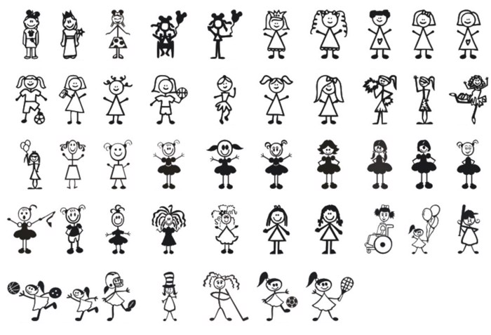 Girl Characters Font poster