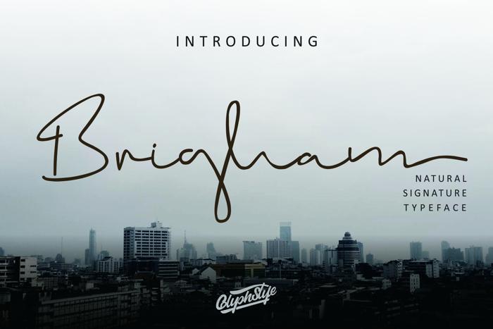 Brigham Font poster