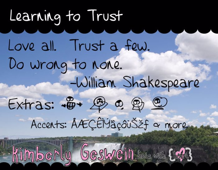 Learning to Trust Font poster
