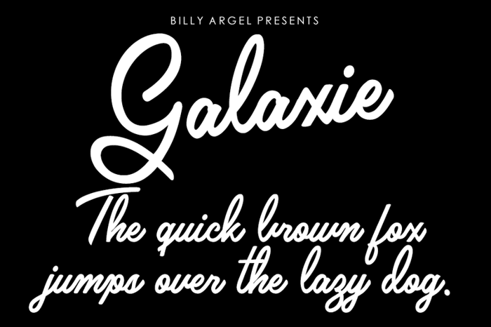Galaxie Font poster
