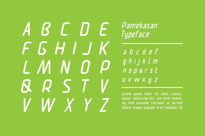 Pamekasan Font poster