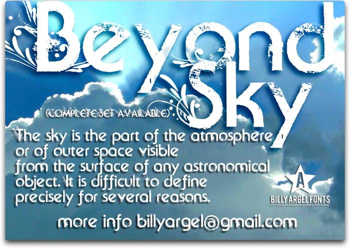 Beyond Sky Font poster