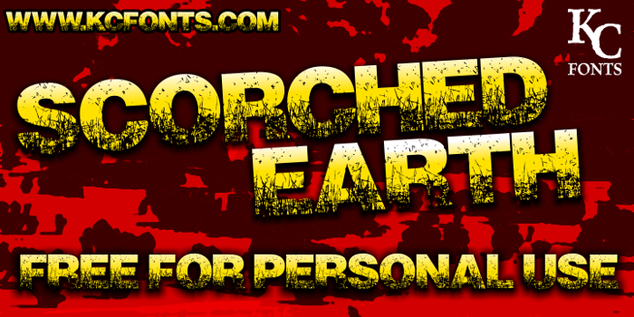 Scorched Earth Font poster