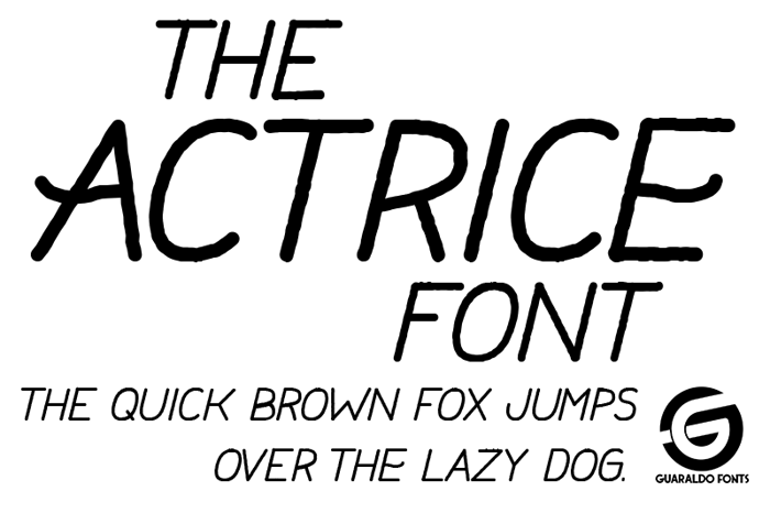 Actrice Font poster