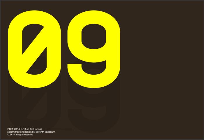 Kotomi Font poster