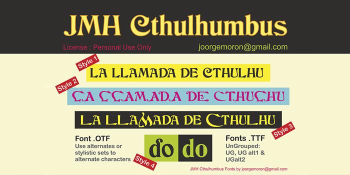 JMH Cthulhumbus Font poster
