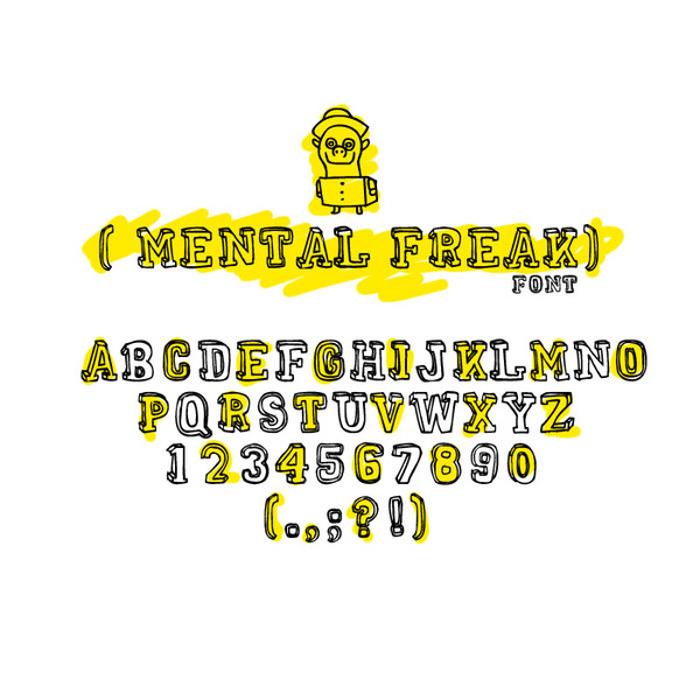 MENTAL FREAK Font poster
