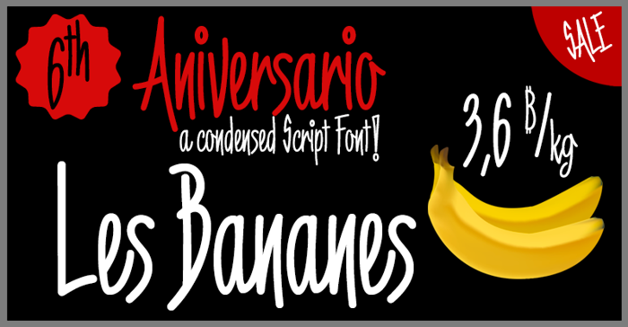 6th Aniversario Font poster
