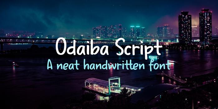 Odaiba Script Font poster