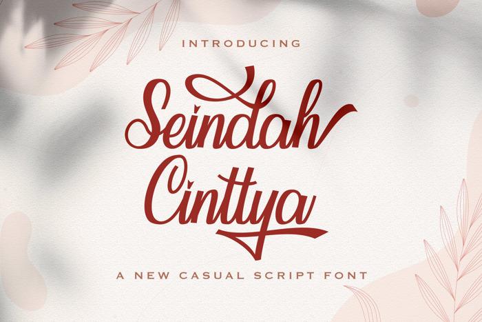 Seindah Cinttya Font poster