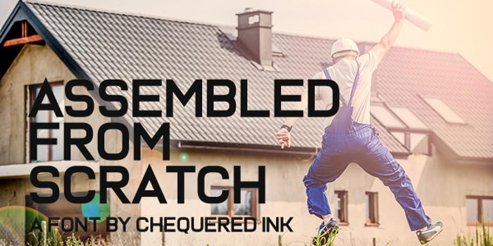 Assembled From Scratch Font poster