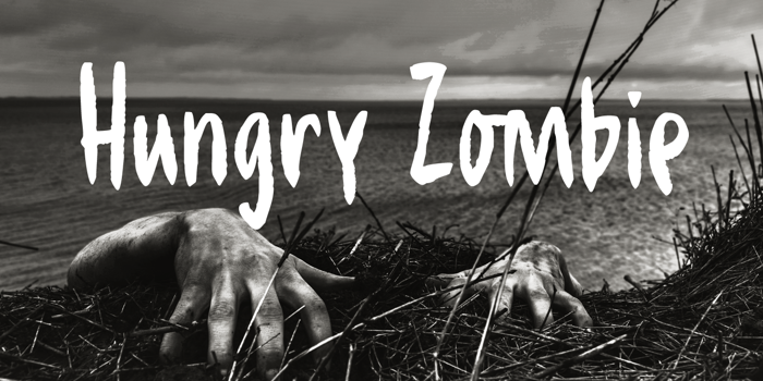 Hungry Zombie DEMO Font poster