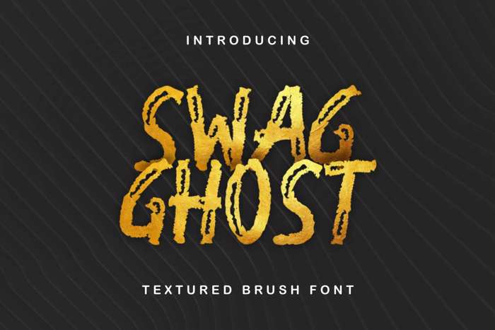 Swag Ghost Font poster
