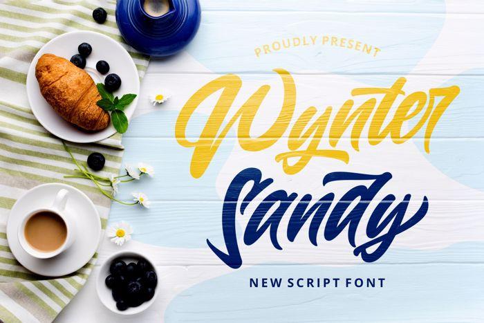 Wynter Sandy Font poster