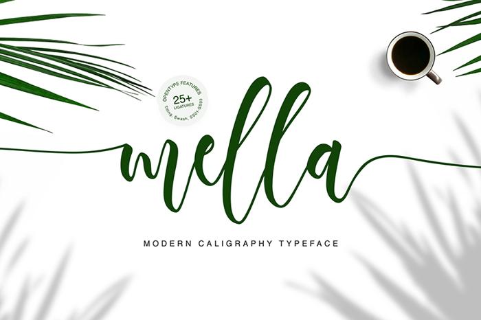 Mella Font poster