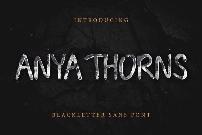 Anya Thorns Font poster