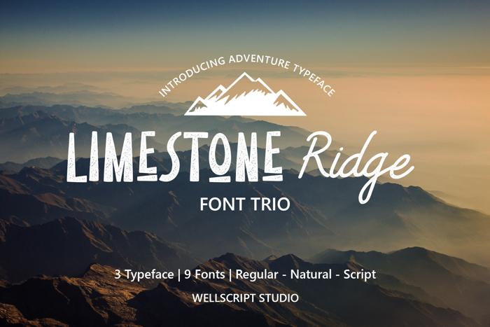 Limestone Ridge Script Font poster
