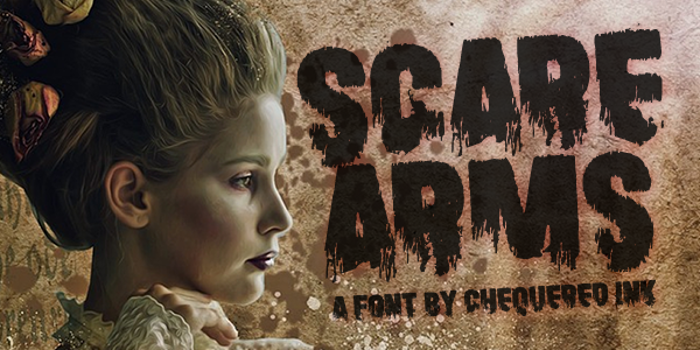 Scare Arms Font poster