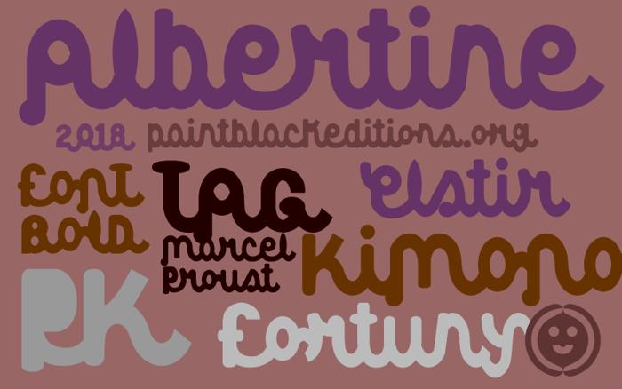 Albertine Font poster