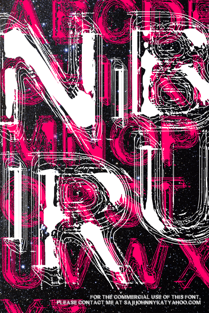 NIBIRU Font poster
