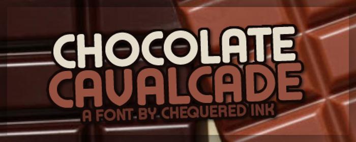 Chocolate Cavalcade Font poster