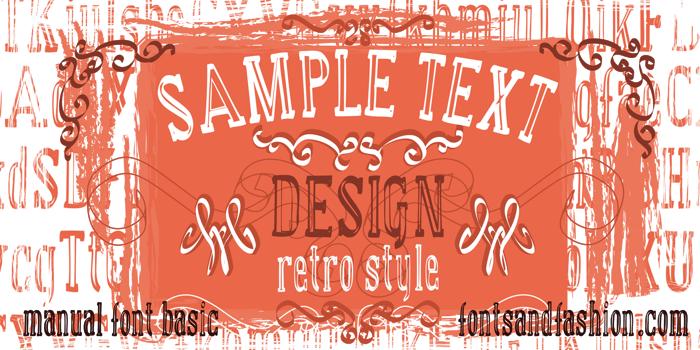 manual font basic poster