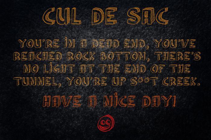 Cul De Sac Font poster