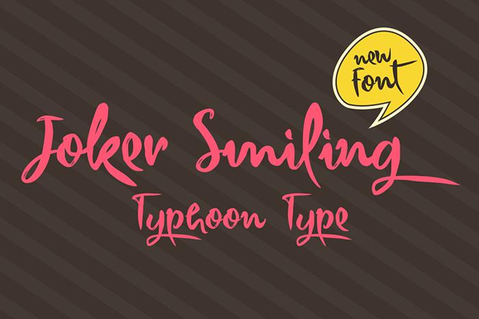 Joker Smiling Font poster