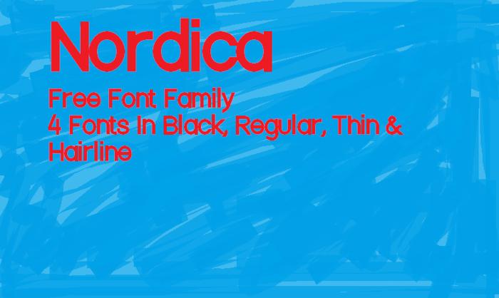 Nordica Font poster