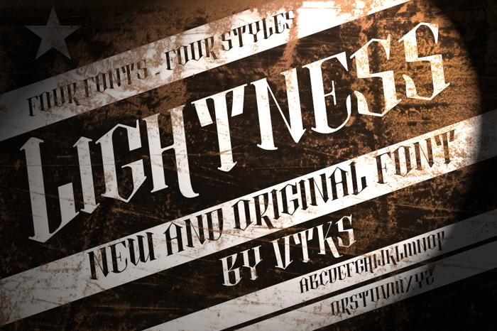 vtks lightness 2 Font poster