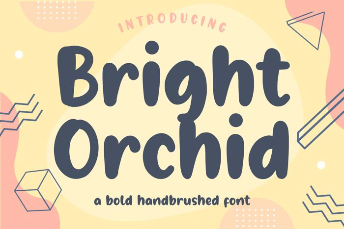 Bright Orchid Font poster