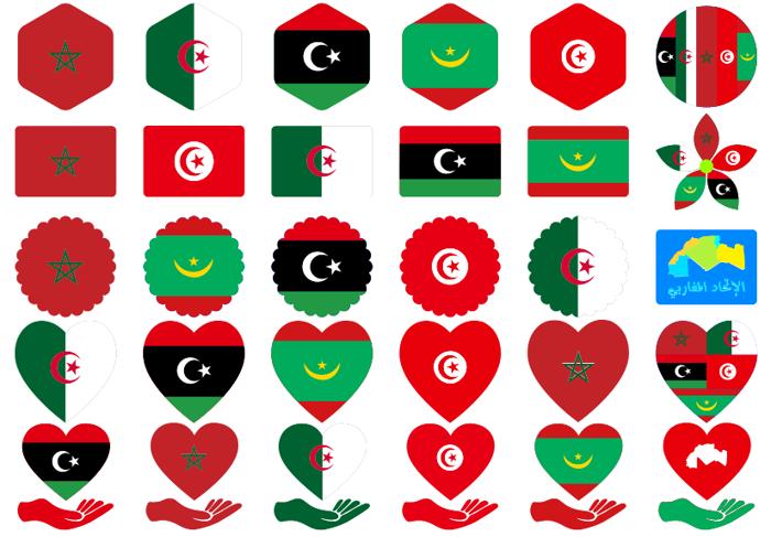 alittihad almaghribi color Font poster