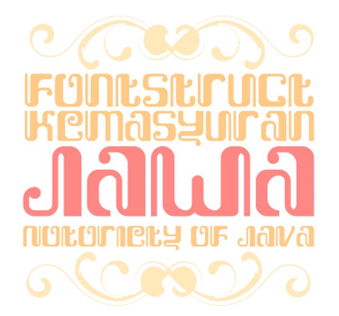 Kemasyuran Jawa Font poster