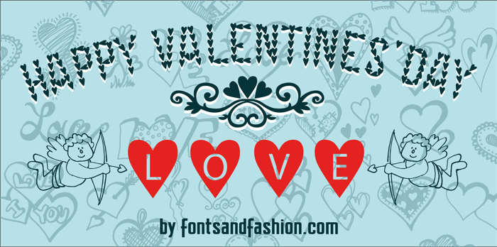 HAPPY VALENTINE'S DAY Font poster