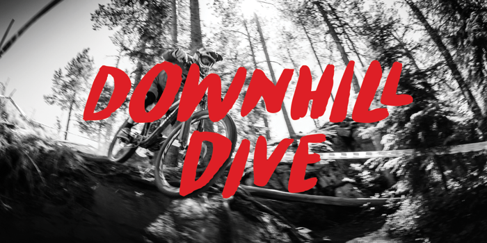 Downhill Dive Font poster