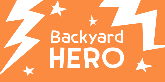Backyard Hero DEMO Font poster