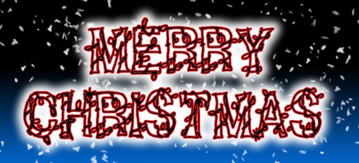 CF Christmas **** Font poster