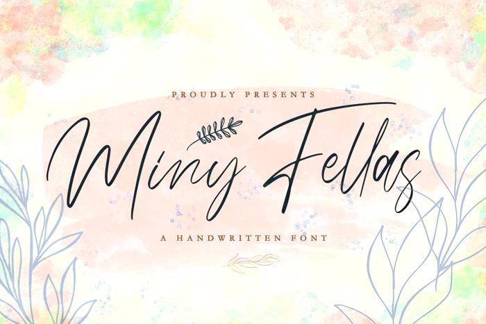 Miny Fellas Font poster