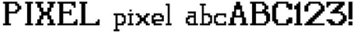 Pixel Font poster