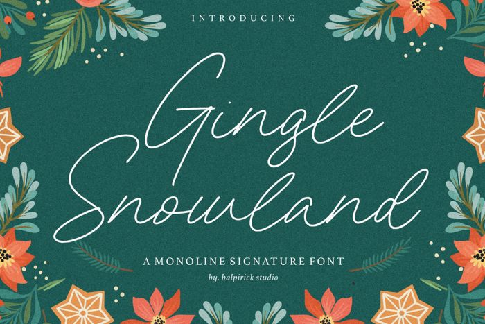 Gingle Snowland Font poster